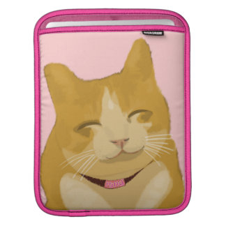 A cute smiling kitty cat sleeve for iPads