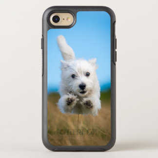 A Cute West Highland Terrier Puppy Running OtterBox Symmetry iPhone 8/7 Case