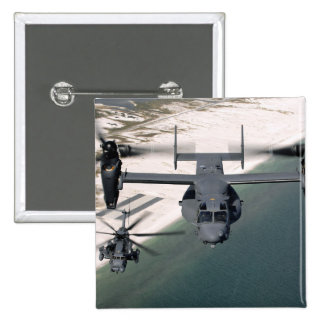 A CV-22 Osprey and an MH-53 Pave Low Pins