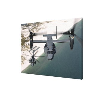 A CV-22 Osprey and an MH-53 Pave Low Canvas Print