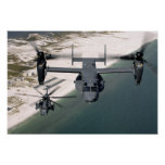 A CV-22 Osprey and an MH-53 Pave Low Posters