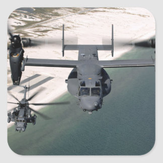 A CV-22 Osprey and an MH-53 Pave Low Square Sticker