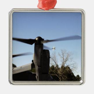 A CV-22 Osprey prepares to take off Metal Ornament