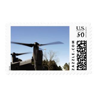 A CV-22 Osprey prepares to take off Postage