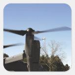 A CV-22 Osprey prepares to take off Square Sticker