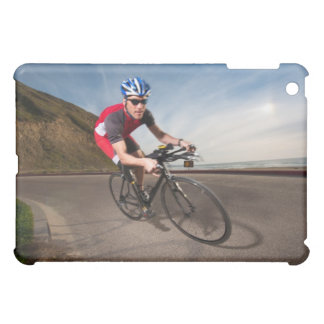 A cyclist leaning into a corner iPad mini cases
