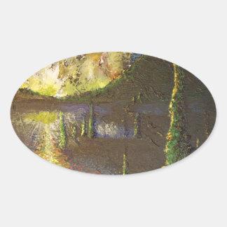 A Cypress Congregation Oval Sticker