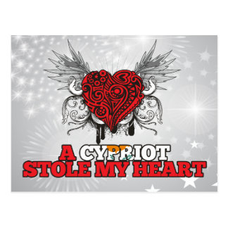 A Cypriot Stole my Heart Postcard
