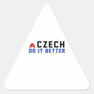 A Czech Do It Better Triangle Sticker