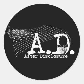 A.D. After Disclosure - Sticker