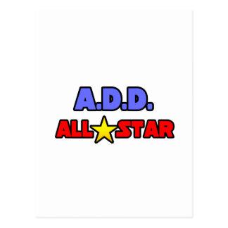 A.D.D. All Star Postcard