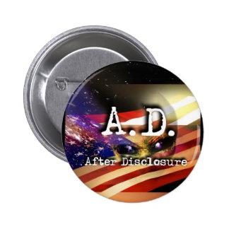 A.D. Después del acceso - botón Pin Redondo De 2 Pulgadas