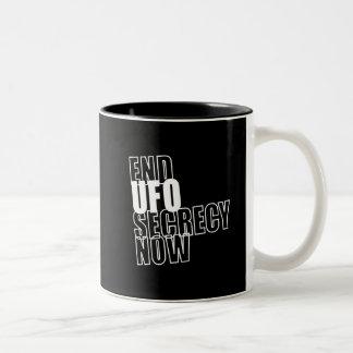 A.D. - End UFO Secrecy Now! Two-Tone Coffee Mug