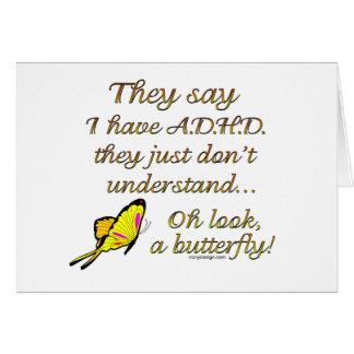 A.D.H.D. Butterfly Humor Card