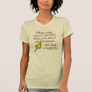 A.D.H.D. Butterfly Humor Tee Shirt