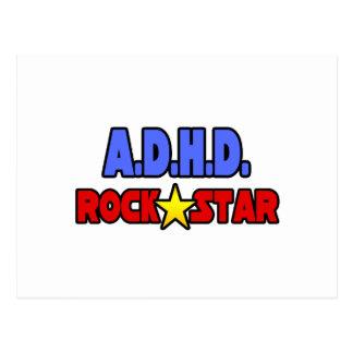 A.D.H.D. Rock Star Post Cards