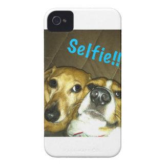 A dachshund and a beagle taking a selfie iPhone 4 Case-Mate case