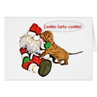 A Dachshund Christmas wish Card