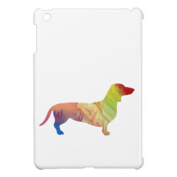 Case Savvy iPad Mini Glossy Finish Case with Dachshund Phone Cases design