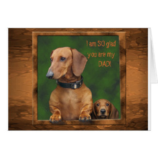 A dachshund Father's Day Card