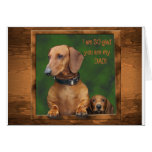 A dachshund Father's Day Cards