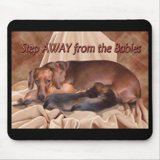 A dachshund Mommy Mouse Pad