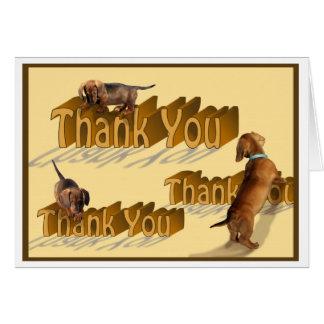 A Dachshund Thank You Card