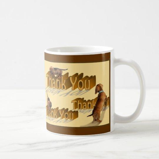 A dachshund Thank You Mug