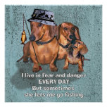 A dachsund Fisherman Posters