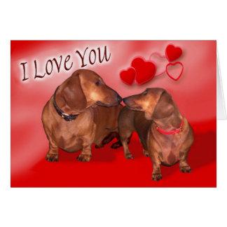 A dachsund Valentines Day Card