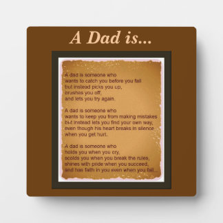 A dad is photo plaques