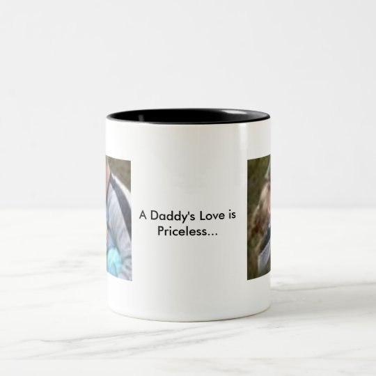 A Daddy's Love is Pri]celess Two-Tone Coffee Mug