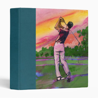 a dads golf Scrapbook 3 Ring Binder