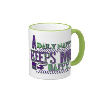 A Daily Nappy Keeps Me Happy Mug Cup