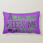 """""""A Daily Nappy Keeps Me Happy"""" Purple Pillow"""