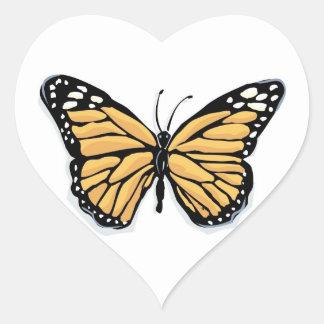 A Dainty Monarch Butterfly Wedding Hearts Heart Sticker