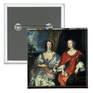 A. Dalkieth  and Lady Kirk, 1640 2 Inch Square Button