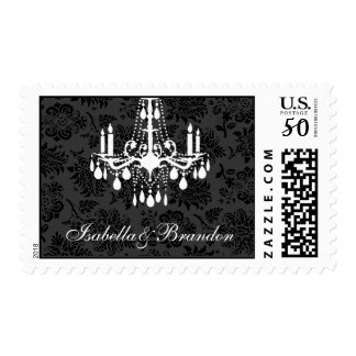 A Damask Victorian  Bride and Groom Stamp