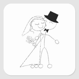 A Dance and A Kiss Square Sticker