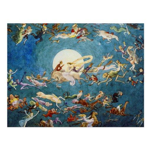 A Dance Around the Moon Print Postcard