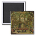 A Dance in a Baroque Rococo Palace 2 Inch Square Magnet
