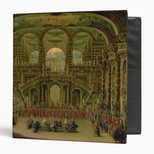 A Dance in a Baroque Rococo Palace 3 Ring Binder