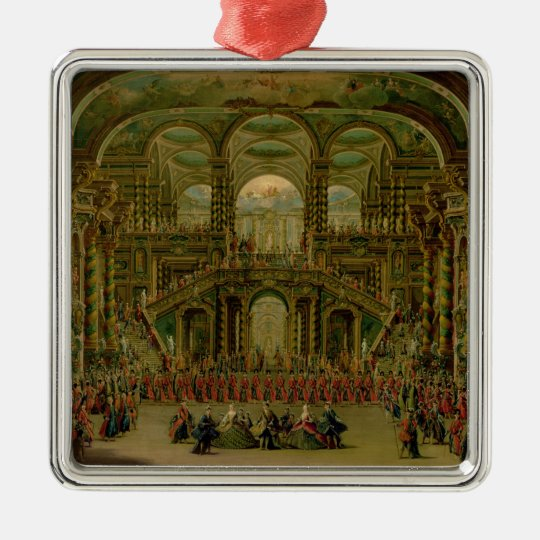 A Dance in a Baroque Rococo Palace Metal Ornament