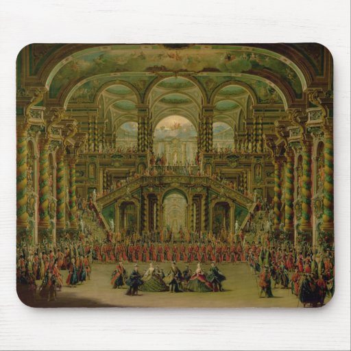 A Dance in a Baroque Rococo Palace Mousepad