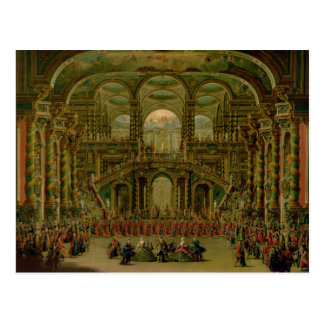A Dance in a Baroque Rococo Palace Postcard