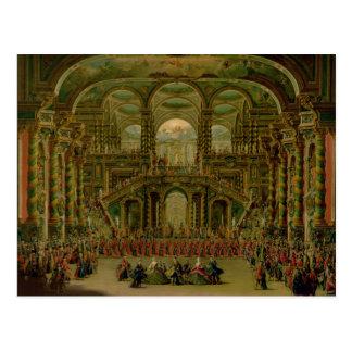 A Dance in a Baroque Rococo Palace Postcard