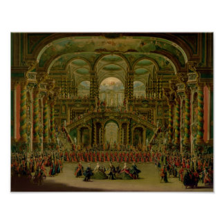 A Dance in a Baroque Rococo Palace Poster