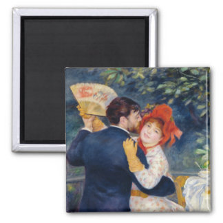 A Dance in the Country, 1883 2 Inch Square Magnet