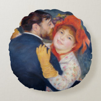 A Dance in the Country, 1883 Round Pillow