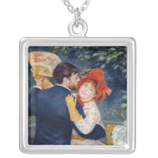 A Dance in the Country, 1883 Square Pendant Necklace